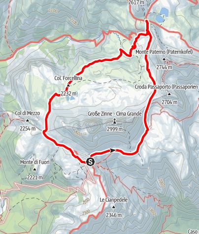 Map / Rund um die Drei Zinnen