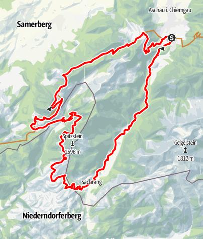 Karte / Trail-Vergnügen und Panorama-Genuss zwischen Spitzstein und Hochries