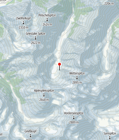 Karte / Frederic-Simms-Hütte