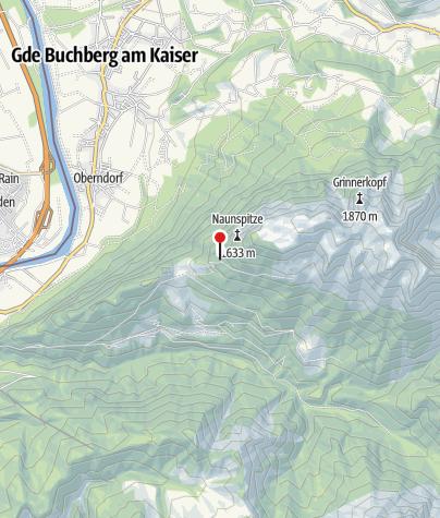 Map / Vorderkaiserfeldenhütte