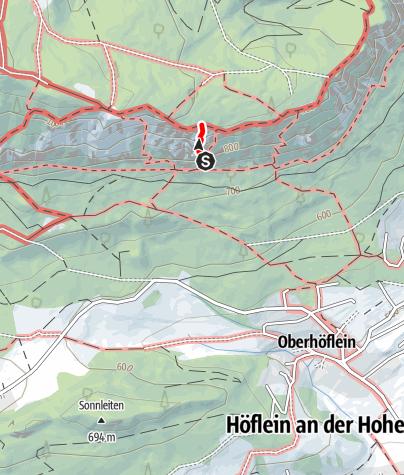 Karte / Gebirgsvereinssteig, Hohe Wand