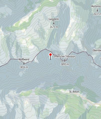 Map / Tribulaunhütte (Rif. Calciati al Tribulaun)