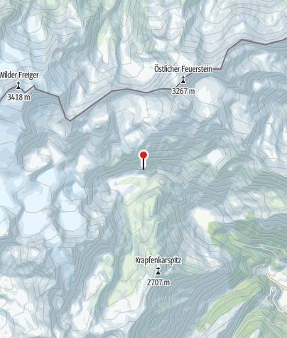 Map / Grohmannhütte (Rif. Vedretta Piana)