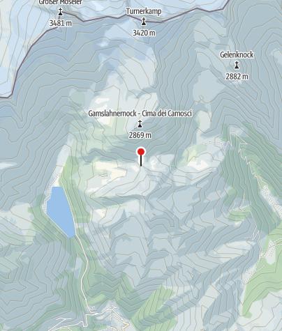 Karte / Chemnitzer Hütte (Rif. Porro)