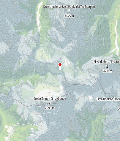Map / Drei Zinnen Hütte (Rif. A. Locatelli)