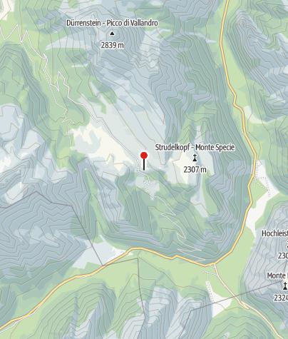 Karte / Dürrensteinhütte (Rif. Vallandro)