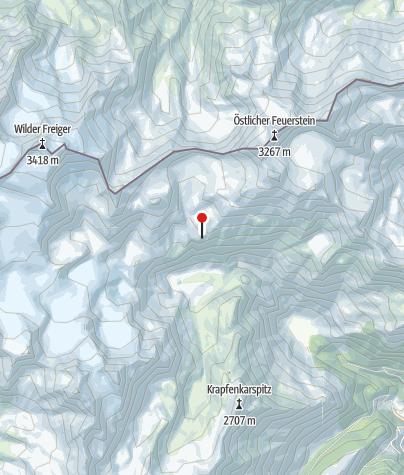 Map / Teplitzer Hütte (Rif. Vedretta Pendente)