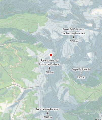 Karte / Gartlhütte (Rif. Rè Alberto)