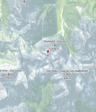Map / Büllelejochhütte (Rif. Pian di Cengia)