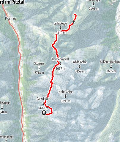 Map / Ötztal Trek Stage 19