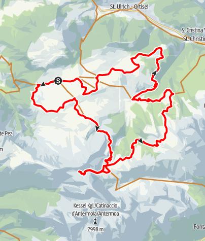 Karte / Von Compatsch zur Tierser-Alpl-Hütte