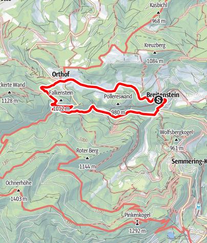 Karte / Breitenstein  - Bequemer Wanderweg