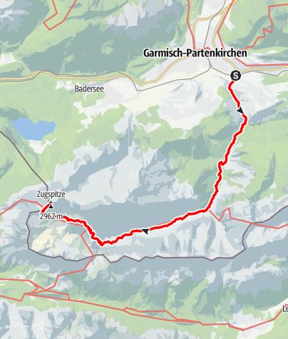Karte / Zugspitze durch das Reintal