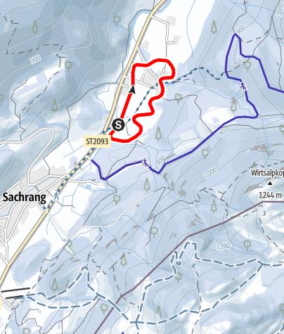 Mappa / Rundloipe Bergerfeld