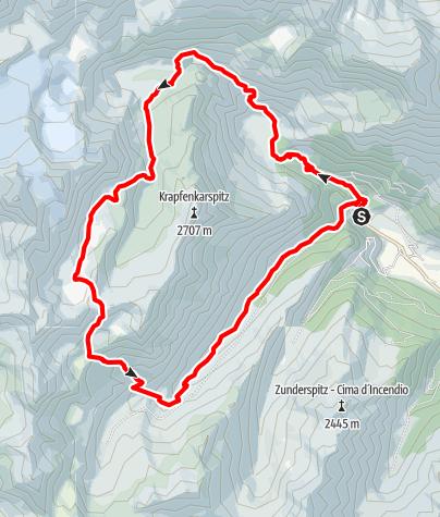 Map / Die Sieben-Seen-Rundtour im Ridnauntal