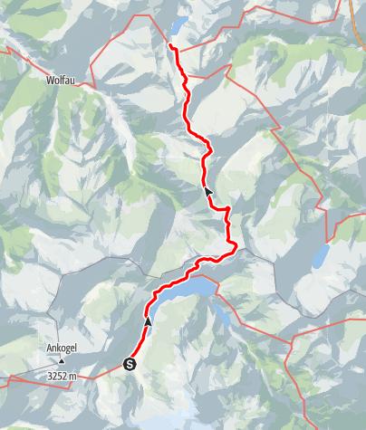 Karte / Von der Osnabrückerhütte über das Albert-Biwak zur Tappenkarseehütte