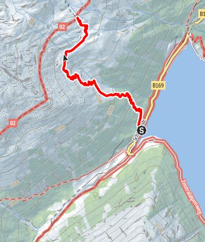 Karte / Zustieg zur Olpererhütte vom Schlegeisspeicher