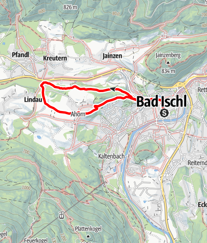 Karte / Um den Kalvarienberg (Elisabeth Waldweg-Leschetitzkyhöhe-Kalvarienbergkirche)
