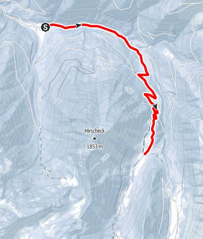 Karte / Schneeschuhwanderung ins Englitztal