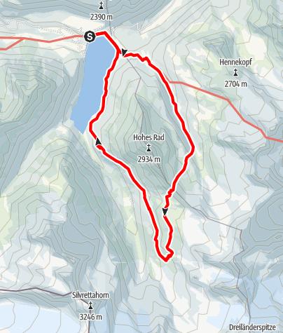 Karte / Silvretta-Bielerhöhe - Radsattel