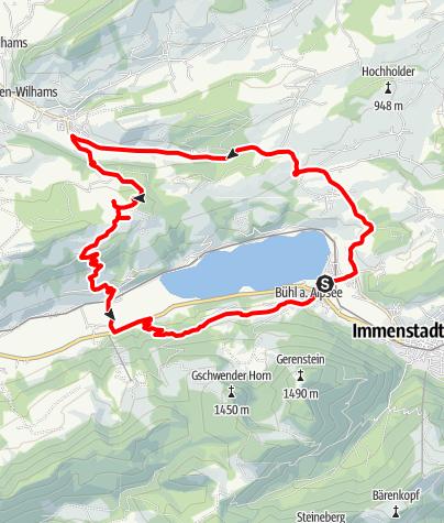 Karte / Aussichtsreiche Mountainbiketour rund um den Großen Alpsee