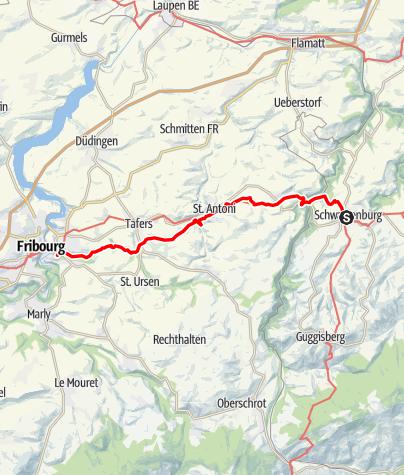 Map / Mit den Jakobspilgern westwärts