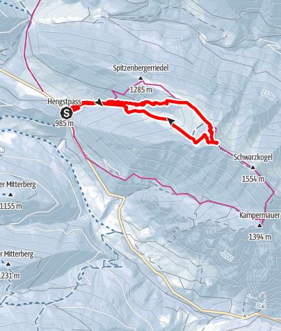 Karte / Vom Hengstpass auf den Schwarzkogel