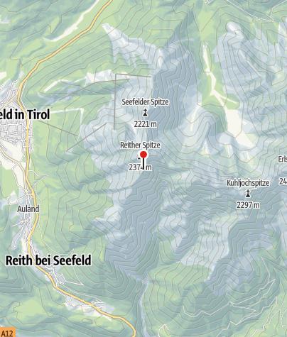 Karte / Nördlingerhütte