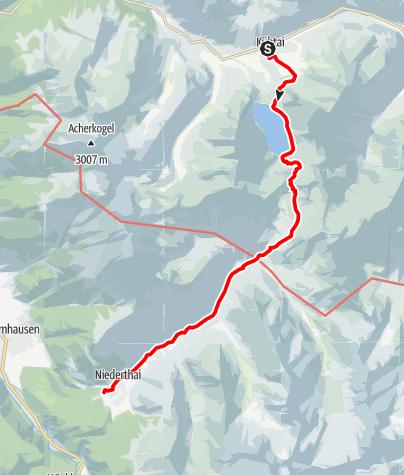 Karte / Übergang Kühtai - Niederthai