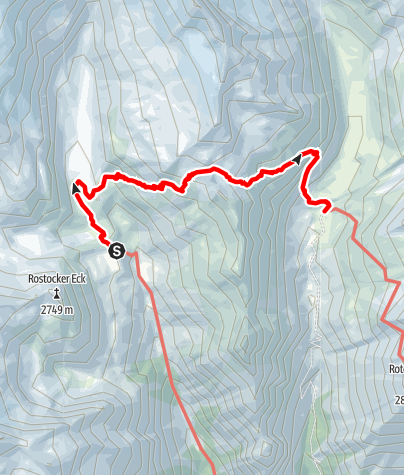 Karte / Über das Türmljoch zur Johannishütte