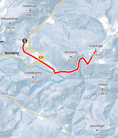 Karte / Vom Pfarrboden zum Annaberger Haus auf dem Tirolerkogel