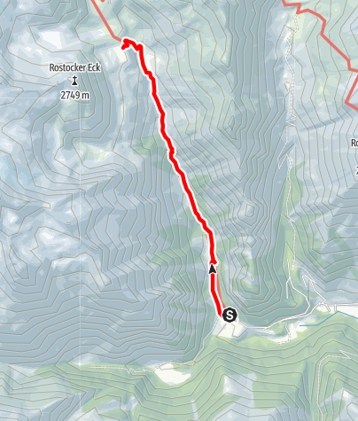 Karte / Aufstieg zur Essener und Rostocker Hütte im Maurertal