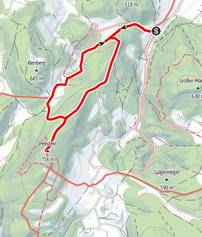 Karte / Peilsteinrundweg