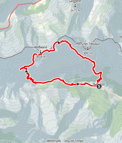 Map / Pflerscher Hüttenwanderung