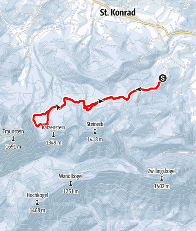 Karte / Laudachsee von Scharnstein aus