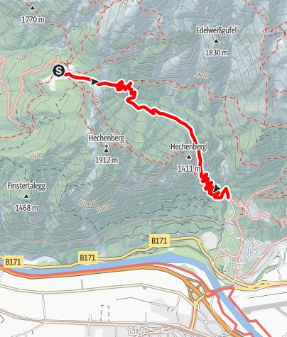 Karte / Schleifwandsteig - Neue Magdeburger Hütte