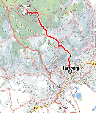 Karte / Aufstieg zur Ringwarte - Steinerne Stiege
