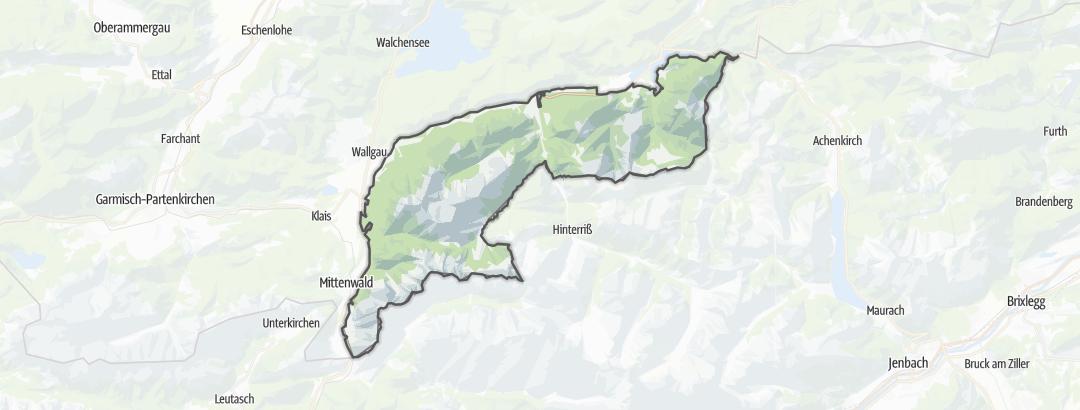 Karte / Karwendel und Karwendelvorgebirge