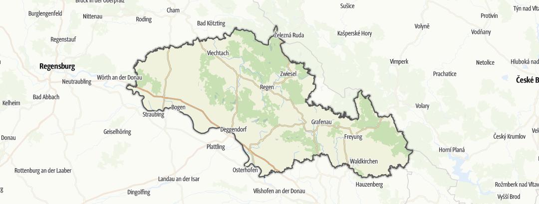 Karte / Bayerischer Wald