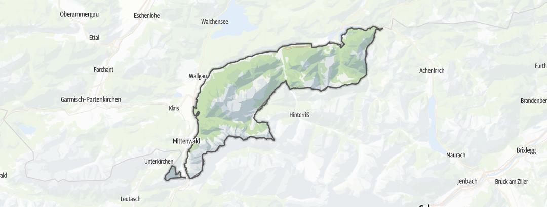 Karte / Karwendel mit Isar