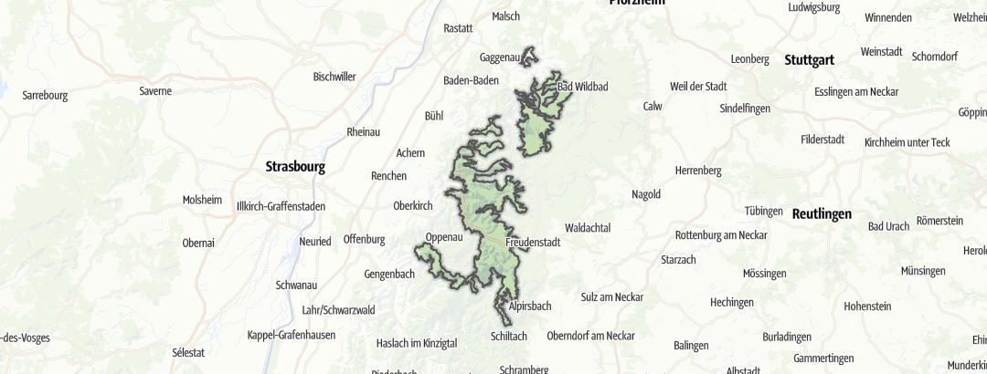 Karte / Nordschwarzwald