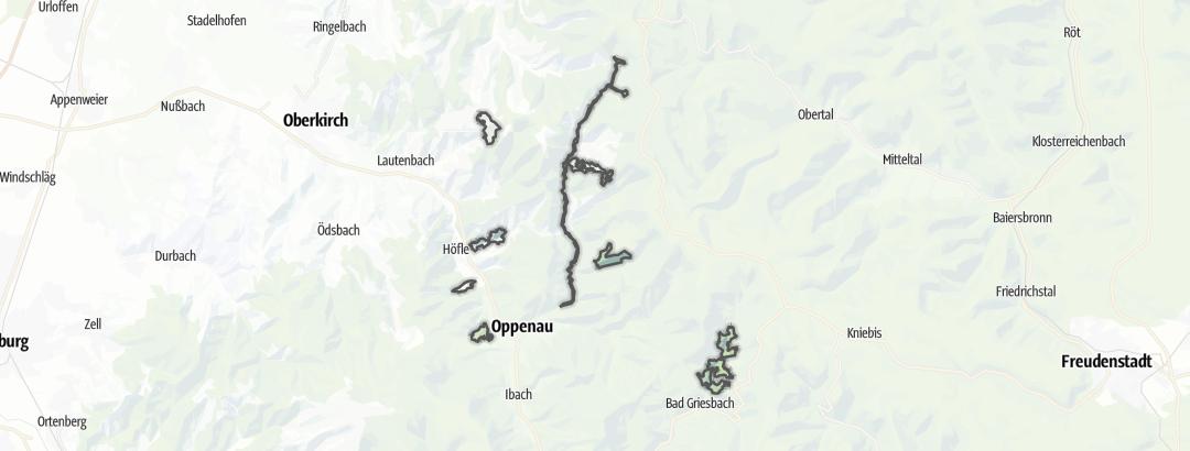 Karte / Nördlicher Talschwarzwald bei Oppenau