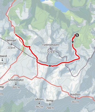 Karte / Sommerreibn - Etappe 3a Wasseralm - Niederbrunnsulzen - Kärlingerhaus