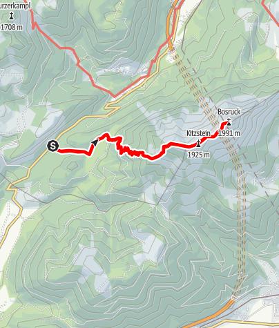 Map / Auf den Bosruck vom Pyhrnpass