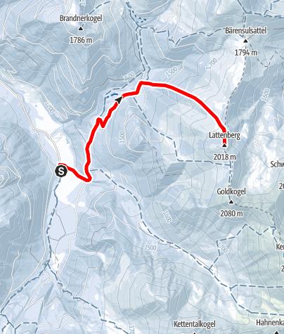 Karte / Lattenberg (Bergerhube)