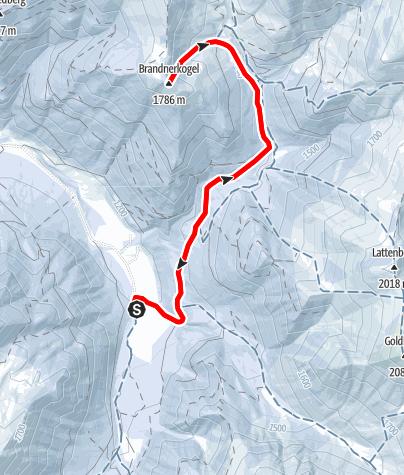 Karte / Brandnerkogel (Bergerhube)