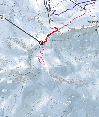 Map / Panoramaweg bis zum Andachtskreuz