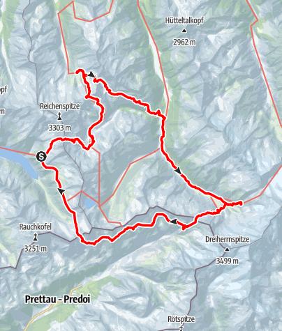 Karte / Dreiländertour am Alpenhauptkamm