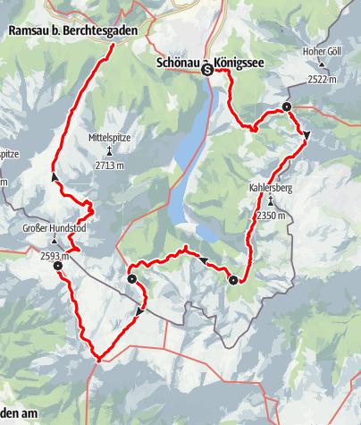 Karte / Große Sommer-Reibn durch das Steinerne Meer