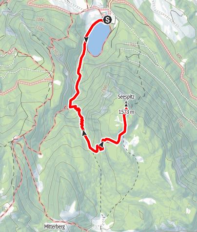 Karte / Seespitz vom Gleinkersee